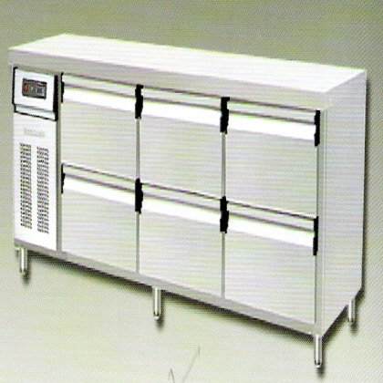 6 Deck Drawer Counter Chiller